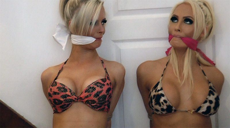 Tied up and gagged slut holly wood gets treated like a whore 3